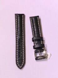 New Breitling 20-18 Mm Black Croc 728p Replacement Band