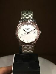 New Authentic Longines Flagship Heritage L4.774.4 36mm S/s Box/papers