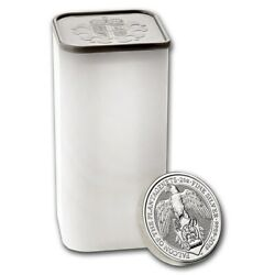 Uk Queenand039s Beasts 2 Oz Silver 2019 The Falcon - Full Tube - Roll Of 10