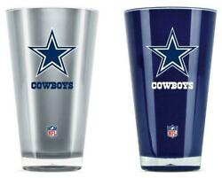 Dallas Cowboys 20oz Insulated Tumbler 2 Pack Cups Drinking Cup Mug Fast Shipping