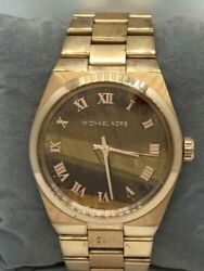Mk5895 Womenand039s Watch Stainless Steel Rose Gold 38mm Analog D601
