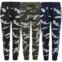 Kids Camo Dot Print Tracksuit Bottoms Boys Girls Joggers Teens Sweatpants 3 14 $22.65