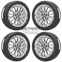19 Cadillac Ct6 Pvd Bright Chrome Wheels Rims And Tires Oem Set 4 2016-2020 ...