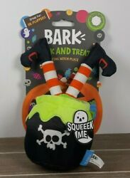 NEW Bark Trick and Treat Halloween Dog Squeaker Toy quot;Resting Witch Placequot;