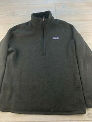 Patagonia Black Large Half Zip Athletic Pull Over Women's Better Sweater $62.99