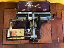 Typewriter Antique Mignon Index No.2 As Shown In The Pictures - Missing Cover