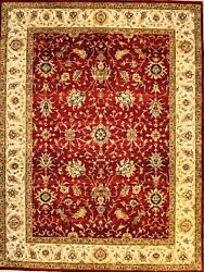 Hand-knotted Rug Carpet 8and0399x11and0398 Agra Mint Condition