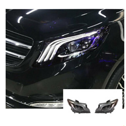 For Benz Metris Led Headlights Led Drl 2016-2020 Replace Oem Halogen Sequential