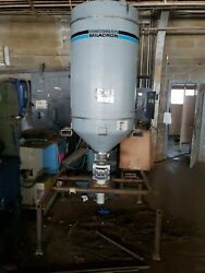 600 Pound Cincinnati Milacron Material Drying Hopper With Mag Tray Molding 56wb