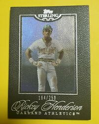 2006 Topps Sterling Black Border #44 Rickey Henderson HOF A#x27;s # 250