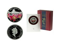 Niue 2012 Beautiful Lily In A Case 1 Dollar Ag