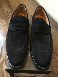 1000 Bally Scribe Black Suede Goodyear Welted Size Us 12.5 Made In Switzerland