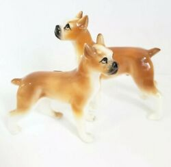 Vintage Boxer Dog Bone China Figurines