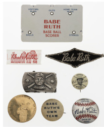 Babe Ruth Ephemera Items, Lot Of 8 All Old And Historical Huge Resale