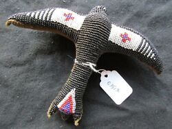 Vintage Native American Beaded Leather Fetish, Ghost Bird Amulet, Sd-102003513
