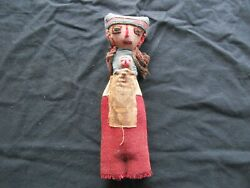 Vintage Peruvian Doll, Hand Made 11 Old Cloth Doll From Peru, Ott-102005009