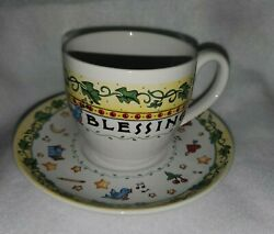 Mary Engelbreit Andrews Mcmeel Publishing Count Your Blessings Teacup And Saucer