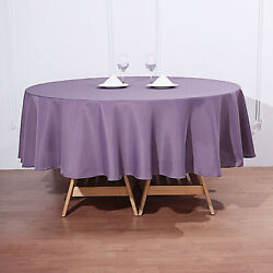 15 Amethyst 90 Round Polyester Tablecloths Wedding Catering Restaurant Supplies