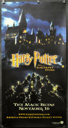 Harry Potter And The Sorcerers Stone 2001 Original 26x50 Kiosk Movie Poster