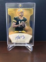 Rare 7/10 Aaron Rodgers 1995 Autographed Panini Crown Signature