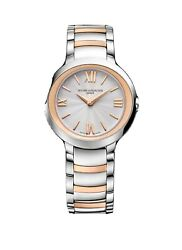 New Baume And Mercier Promesse 18k Rose Gold And Steel Ladies Quartz Watch Moa10159