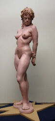 Sculpture Beautiful 33 Inches High Sculpted From A Model At Palette And Chisel.