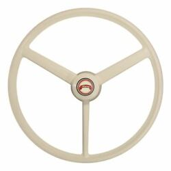 20 Retro White Ivory Steering Wheel Cabover Conventional Truck Semi Universal