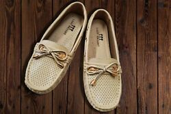 Womenand039s Moccasin Flat Shoes - Beige