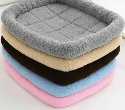 Soft Warm Dog Beds Breathable Fluffy 350-600g Pet Sofa Sherpa Fleece Puppy Sofas