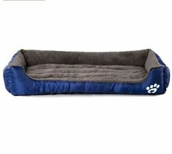 Warm Kennel For Dog Soft Breathable Sofas Polyester Cashmere Fiber Puppy Bed New