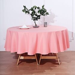 20 Coral 90 Round Polyester Tablecloths Wedding Catering Restaurant Supplies