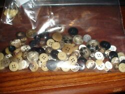 Vintage New Used Sewing Buttons 1500 Plasticmetalshellwood 2+lbs