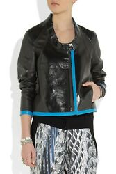 Nwt Helmut Lang Reversible Dual Leather Black Blue | Gulf Jacket 1495.00andnbsp