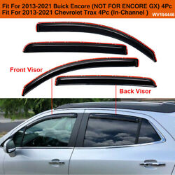In-channel Window Visors Sun Rain Guards Vent Shade For 2013-2021 Buick Encore