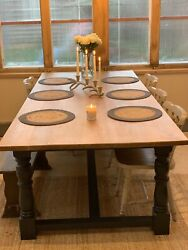 A Fantastic Large Oak Refectory Table 8 Seater Farmhouse Dining Table Antique