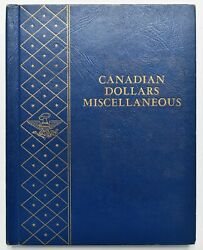 Plain Canadian Silver Dollar Miscellaneous Whitman Booklet Mostly Filled