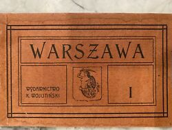 Antique Postcards Vintage Scenes From Warsaw Poland 4 Books Of 12 Post Cards Ea.