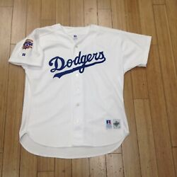 Los Angeles Dodgers Jersey Russell Athletic Size 52 Xxl Baseball Authentic Mlb