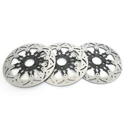 Front Rear Brake Rotors For Dyna Low Rider Fxdl 14-17 Fat Bob Fxdf 08-17 Fxdbc