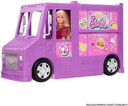 Barbie Food Truck Multiple Play Areas 30+ Play Pieces Accessories Playset Purple