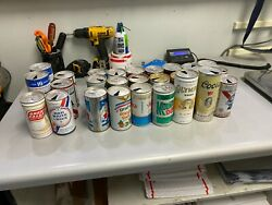 Vintage Pull Tab Beer Cans -with Soda Cans