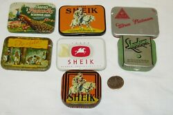 Collection, Lot Of 7 Condom Advertising Metal Tins, Rubber, Prophylactics