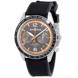 Bell And Ross Garde Cotes Grey Dial Automatic Men's Chronohraph Watch