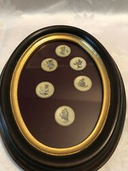 Hummel - Mini Collector Plates, Framed, 1971-1976, Excellent Condition