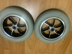 Flat Free Drive Wheels Chinese Electric Wheelchair   10x2 Includes Rim