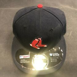 59Fifty MLB Boston Red Sox Sock Logo Fixed Size Fitted Hat Cap NEW
