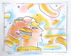 Peter Max From Another Planet Lithograph On Somerset Signed And Numbered In P