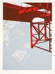 Allan D'arcangelo, Untitled - Red Bridge, Screenprint On Arches, Signed And Numb