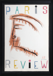 Ben Shahn Paris Review Lithograph On Arches Signed In Black Crayon Numbered