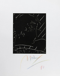 Peter Max, Profile, Etching, Signed In Crayon And Numbered In Pencil